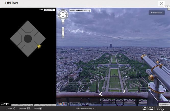 Google kilátás az Eifel toronyból